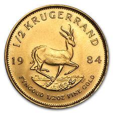 1984 South Africa 1/2 oz Gold Krugerrand - SKU #89692