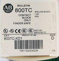 Allen-Bradley Contact Block Only Finger Safe 800TC-XD1 Series D
