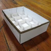 "4"" deep Mineral Specimen White Flats, set of 50 Tops & 50 Bottoms - Flat001"
