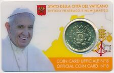 Vatikan offiz. Coincard - Coin Card 2017 Nr. 8, 50 Cent neues Motiv Papstwappen