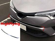 For Toyota C-HR 2016 2017 1pcs Chrome front center grille grill strip trim