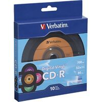Verbatim 97935 10pk Cd-r 52x 700mb Digital Supl Vinyl Bulk Retail Box