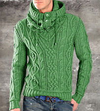 Men's Hand Knitted V-neck Sweater XS,S,M,L,XL,XXL Wool Hand Knit pullover A