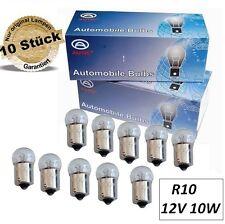 10er Set Kugellampe BA15s 12V 10W Birne Glühbirne PKW Signal Licht Stop Leuchte