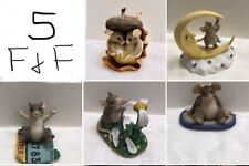 Charming Tails Figurine Lot of 5 Jackpot, Reach For The Stars, You Love Me