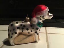 Hund Dalmatiner Nikolausmütze Tannenbaum  Weihnachtsanhänger Neu