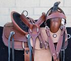 Used Western Horse Roping Ranch Trail Saddle 12 13 14 Custom Tooled Leather Tack