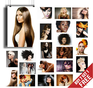 GREAT COLLECTION * WOMEN HAIRSTYLE HAIRCUT HAIR BEAUTY SALON A3 / A4 POSTERS