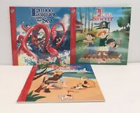 New Lot 3 ILLUSTRATED Childrens Little Classic Books Tom Sawyer, Robinson Crusoe
