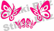4 x Cute Pink Butterfly Butterflies Car Van Window Bike Door Stickers SB6