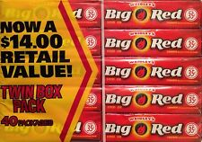 Wrigley BIG RED Cinnamon Chewing Gum 80 Packs (2 Boxes)