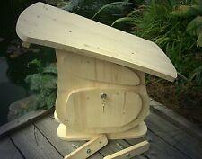 Holzbriefkasten Holz Postkasten zum anmalen SpitzdachTyp1 Tolles Design XXL