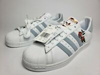New! Adidas Superstar Womens Shoes CG5939 In Periwinkle/Custom Red Roses sz 10