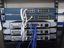 Cisco CCNA CCNP Adv Lab 3 X 1841 WIC-2T IOS 15 + 2 X WS-C3560-24TS ios 15 + Rack