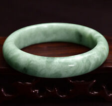 Gems Beautiful Green Jade Natural Bangle Bracelet Floating Flowers 56mm-59mm