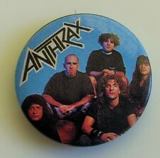 ANTHRAX VINTAGE METAL BUTTON BADGE FROM THE 1980's THRASH SPEED METAL