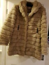 Be Beau cream faux fur coat. Size 12. Great condition.
