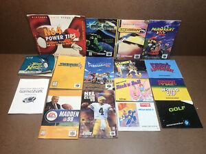 Lot Vintage Instruction Manuals, N64 NES Techmo