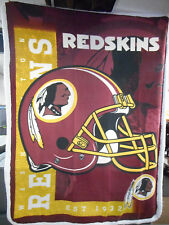 Washington Redskins Licensed NFL Fleece Lightweight Throw Blanket 60 X 80