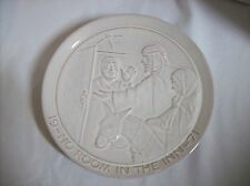 Frankoma Pottery ~ Christmas Plate ~ 1971~ No Room in the Inn ~ Signed ~ Sand