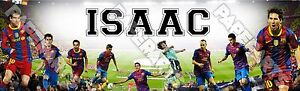 "FC Barcelona Poster Banner 30"" x 8.5"" Personalized Custom Name Printing"