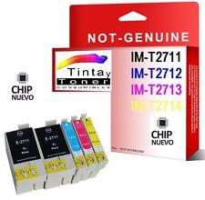 5 Tintas Compatibles Non Oem T2711 27XL Epson WorkForce WF3620 3640 7110 7610