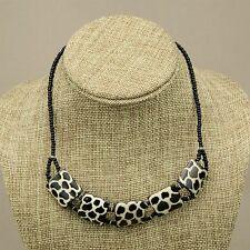 Cow bone Choker Bead Necklace 637-64 Africa Handmade Giraffe Batik Print Bovine