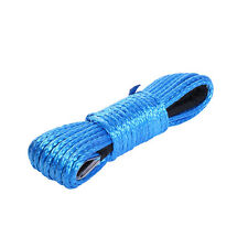 "3/16"" x 50' 7700LBs Synthetic Winch Line Cable Rope with Sheath ATV UTV Blue CE"