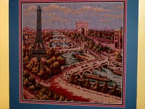 Paris France City Scene Arc Triomphe Élysées Eiffel Tower Vintage Wall Tapestry