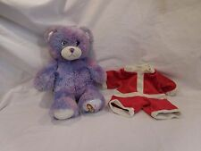 "Build a Bear Wizards of Waverly Place Purple Teddy W/ Santa Outfit 14"" Plush Do"