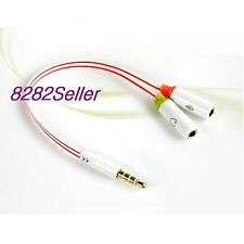 PC Computer Headset to Smartphone Headset Adapter Converter 3.5mm Flat EXTENSION