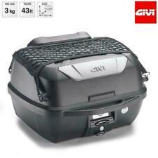 GIVI E43NMAL+ Monolock 43L Bauletto Posteriore con Rete Elastica di Stoccaggio - Nero/Argento