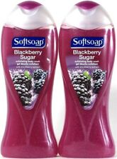 2 Bottles Softsoap 15 Oz Blackberry Extract Sugar Exfoliating Body Wash Scrub