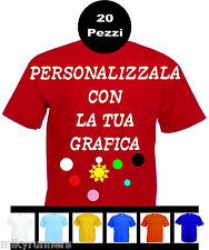20  Magliette T-shirt rosse Personalizzate con le vostre scritte loghi foto etc.