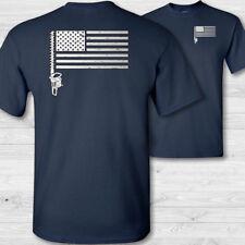 American Flag Landscaper T-Shirt USA flag Landscaping shirt Hedge Trimmer - W