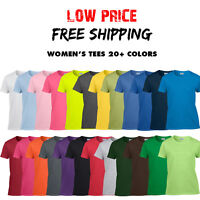 Women's Gildan T Shirt Ladies Blank Tee Ultra Cotton 20+ COLORS