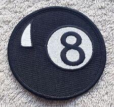"BLACK POOL 8 BALL PATCH 3"" Cloth Badge/Emblem/Insignia Biker Jacket Bag Iron Sew"