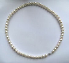 "18"" 7.5mm Freshwater White Pearl Necklace with sterling silver findings"