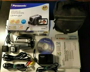 Panasonic SDR-H60P  HDD Camcorder, W/Battery, Charger, Cables, Case & More