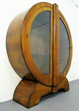 Walnut Art Moderne Antique Cabinets