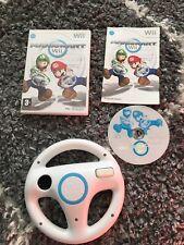 Mario Kart Nintendo Wii Game With Wheel