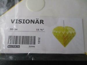 BNIB Ikea Visionar Yellow Lampshade Heart Shape Hook Loop Fastening