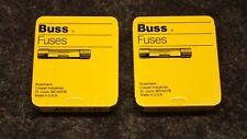 New BUSSMAN BUSS FUSES 250 Volts, AUTO MARINE ELECTRONICS P/N AGC 1-1/2 (2) 5-PK