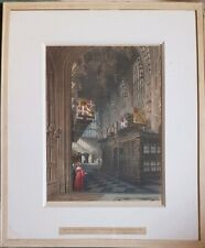 """CHARLES WILD. COLOURED AQUATINT ETCHING. """"WESTMINSTER ABBEY"""" PROOF SIGNED"""