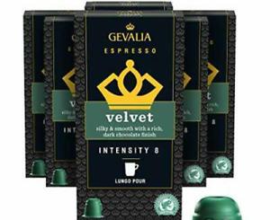 60 Gevalia Nespresso Compatible Capsules Velvet Espresso Pods BB 3/20/21