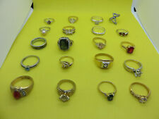 FASHION RING LOT Vintage Costume Jewelry 20 RINGS ALL DIFFERENT SIZES