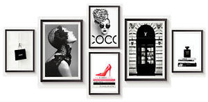 Set of 6 Fashion Vogue Designer Wall Art Bedroom Print Home Posters Deco Gift S1