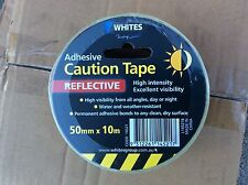 ADHESIVE -Caution Tape- Safety Warning Tape - 1 Roll  10mtrs x 50mm