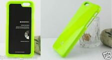 For iPhone 6/6s Genuine MERCURY Goospery Metallic Lime Green Jelly Case Cover
