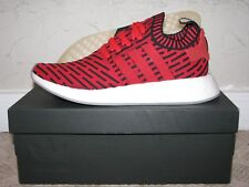 adidas NMD R2 PK Primeknit Red / Black Mens Size 9.5 DS NEW! BB2910 Boost